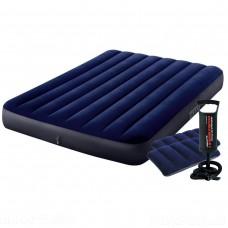 Надувной матрас Intex 64758-2, 137 x 191 x 25 см, с двумя подушками и ручным насосом
