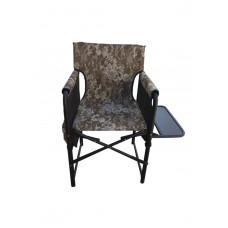 Кресло складное Режиссер с деревянной полкой камуфляж с карманчиками