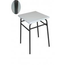 Кухонный табурет 47 см высота графит каркас + белая сидушка