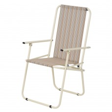 Стул кресло Дачный тестилен беж полоска Витан