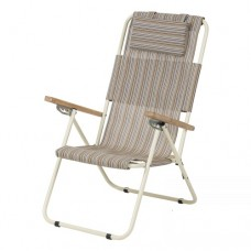 Кресло - шезлонг Ясень Vitan бжевого цвета на 4 положения спинки