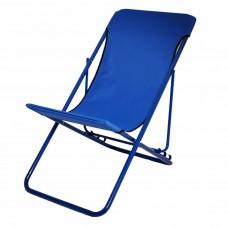 Шезлонг-кресло Релакс синего цвета для пикника с нашрузкой 120 кг производства Украина