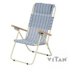 Кресло шезлонг Ясень 4 положения спинки текстилен Витан