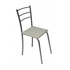 Кухонный металлический стул Марко хром с белым сиденьем
