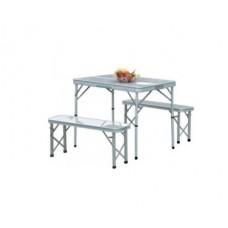 Складной комплект стол 90*62см и 2 лавочками для пикника PC 1858