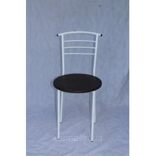 Кухонный белый стул с круглым сиденьем венге из ламинированного мдф