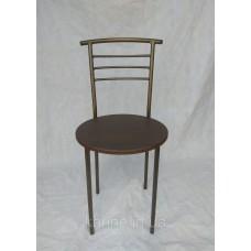 Кухонный стул Оливия каркас бронза с сидушкой венге