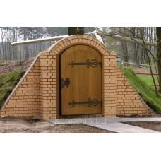 Кованая дверь для погреба