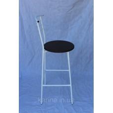 Барный стул металлический высокий на белом каркасе