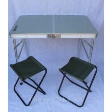 Стол складной Ranger Slim + 2 стула с чехлом