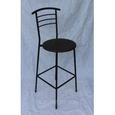 Барный стул черный сидушка круглая