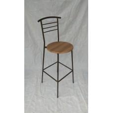 Барный стул антик бронза Марко с сиденьем вишня-малага