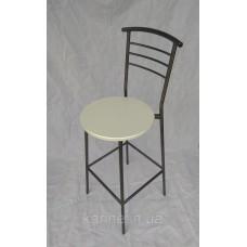 Барный стул для дома с белым сиденьем