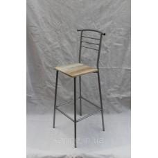 Барный стул Марко хром + дуб сонома