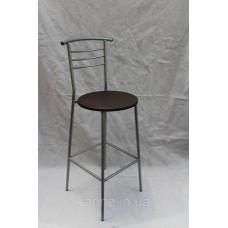 Барный стул высокий с круглым сиденьем венге