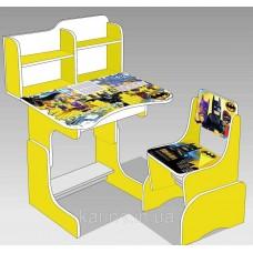 Парта школьная ЛДСП ПШ 032 Бэтмен цвет желтый