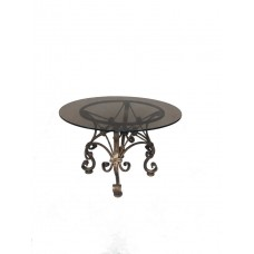 Журнальный кованый круглый стол