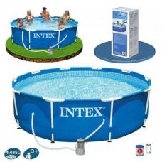 Бассейн каркасный Intex 28202 фильтр-насос 1250 л/ч в комплекте