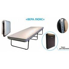 Раскладушка кровать на ламелях Vista Вера Люкс с матрасом чехол для хранения