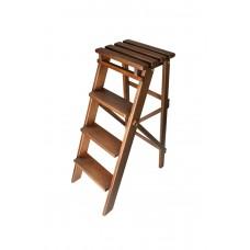 Складной стул стремянка 82см цвет орех на 4 ступени из натурального дерева