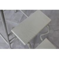 Стул стремянка белая с белыми ступенями из ламинированного мдф