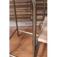 Стул - стремянка-трансформер(табурет-стремянка) каркас бронза со ступенями вишня малага
