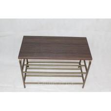 Банкетка 60 см с деревянным сиденьем венге