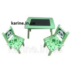 Детский столик со стульчиками зеленый