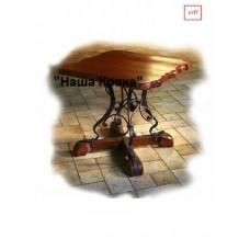 Обеденный стол деревянный с элементами ковки