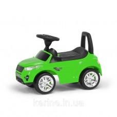 Машинка для катания (каталка - толокар) зеленый музыкальный