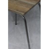 Стул кухонный Марко каркас chrome с квадратным сиденьем дуб сонома из ламинированного мдф