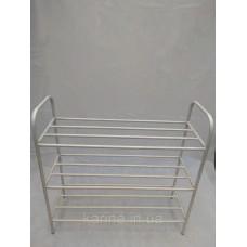 Белая этажерка подставка на 3 полки 80 см