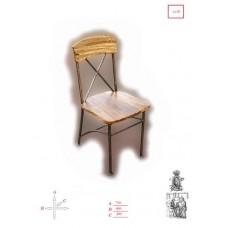 Кованые стулья сиденье из натурального дерева