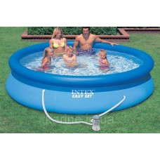 Бассейн надувной Интекс Easy Set 396*84 см с фильтр-насосом 28142