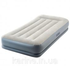Надувная кровать-матрас со встроенным насосом INTEX 64116 Twin 99х191х30 см