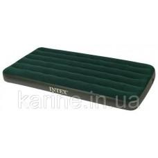 Надувной матрас PRESTIGE DOWNY BED, TWIN, Intex 66967 99х191х22 см, насос на батарейках